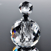 2016 10ml Clear Round Luxury Refillable Parfum Women Perfume Bottles Empty Container Vintage K9 Crystal Cut Glass Wholesale
