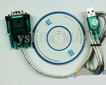 free shipping USB 2.0 TO RS232 SERIAL DB9 9 PIN ADAPTER CABLE #9587
