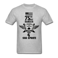 High Quality U S Army Army Rangers Special Forces Skull For Men 100 Cotton T Shirts