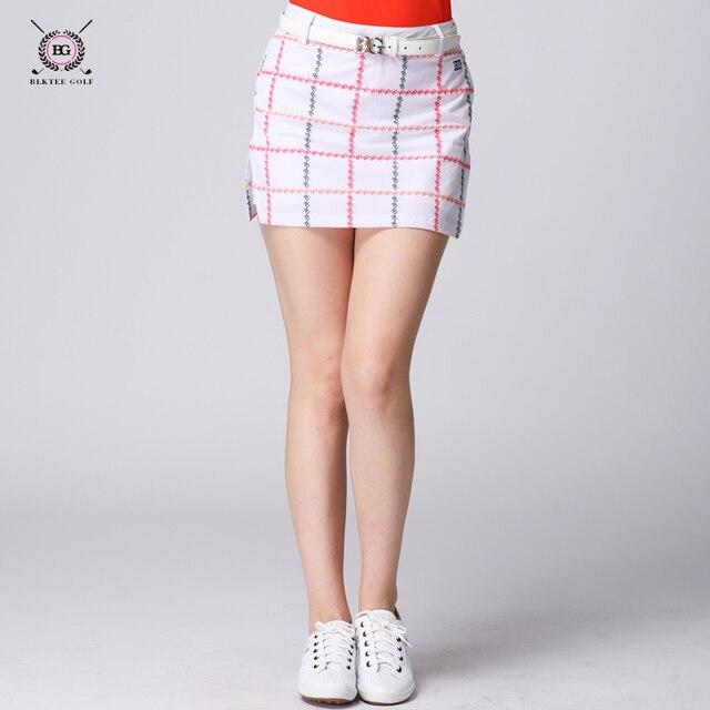 dae3093ed4 Brand golf skirts lady sports clothes women short skirt golf culottes  elastic plaid skirt 3 colors