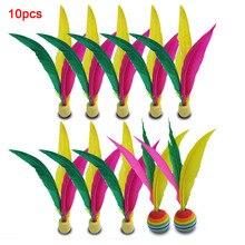 10 шт набор крикет мяч три-волосы красочные крикет шары спортивные аксессуары