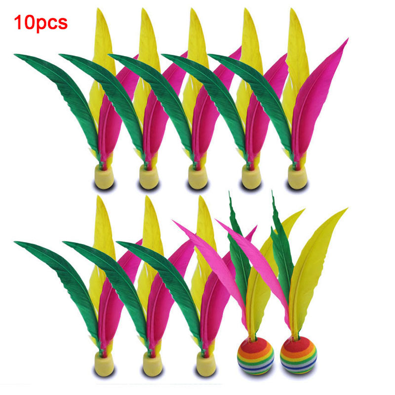 10pcs Set Cricket Ball Three-hair Colorful Cricket Balls Sports Accessories