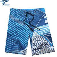 Haute Qualité Mens Short Short de Surf Sport D'été Plage Homme Bermuda Pantalon Imprimé À Séchage Rapide Short de bain argent