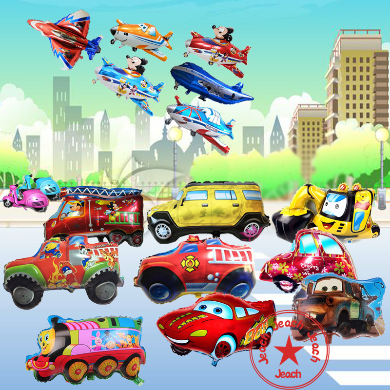 giant baby helium balloon car helicopter toy baby party supplies airplane train cars birthday party decoration cars balloons