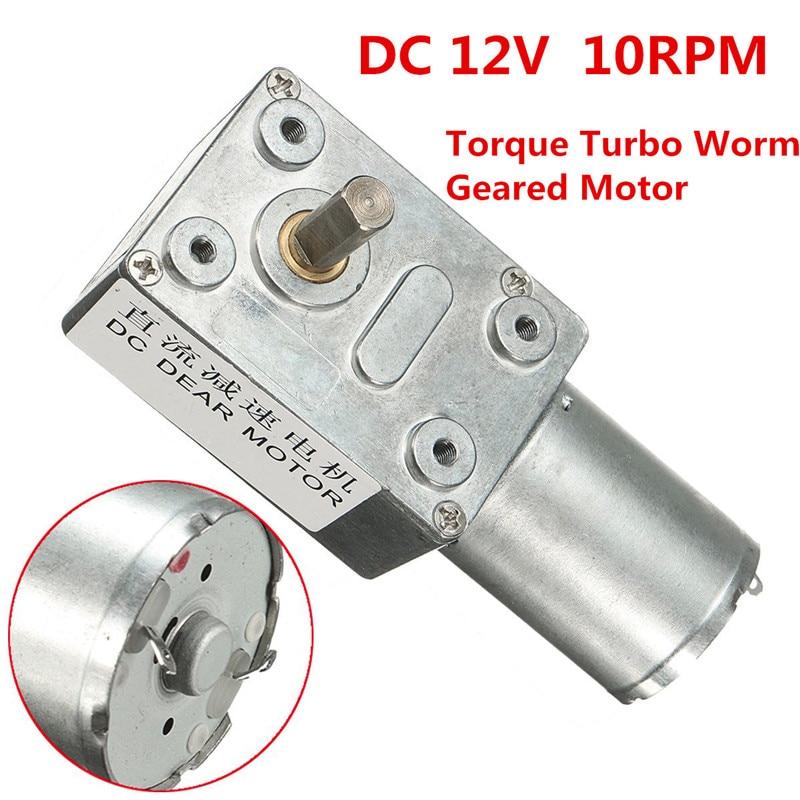 цена на DC 12V 10rpm Reversible High Torque Turbo Worm Geared Motor DC Motor JGY370