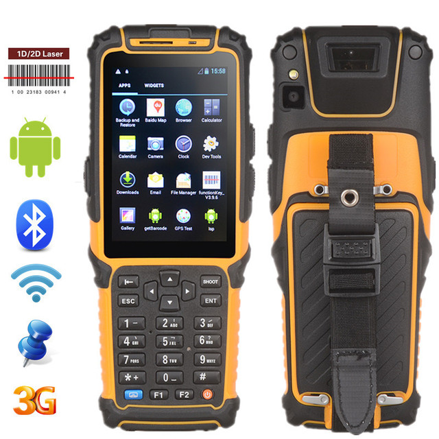 4g Pos Terminal Pda Rugged Ip64 Rating Portable 1d 2d Barcode Reader Rfid Datalogic Ts