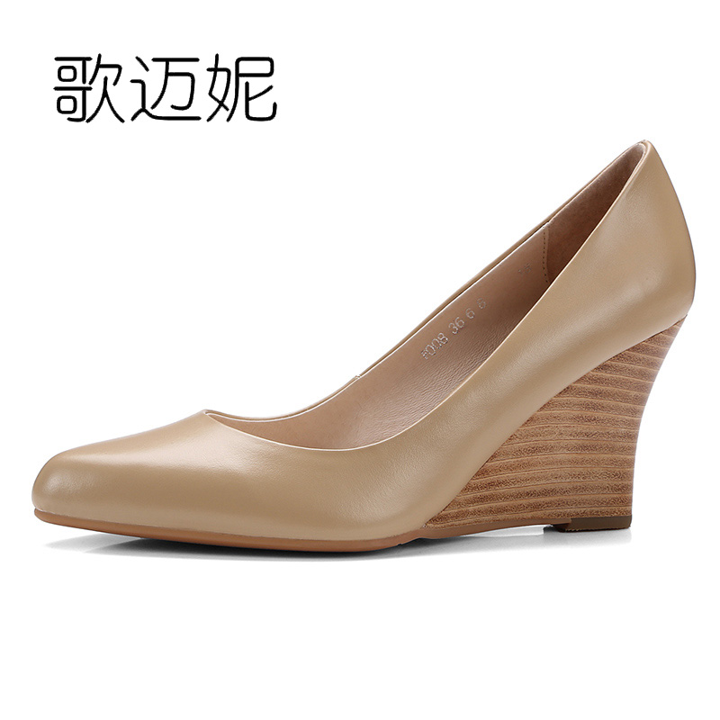 high heels wedge womens pumps women shoes wedges woman summer heels luxury brand shoes 2017 nude leather high heel nayiduyun women genuine leather wedge high heel pumps platform creepers round toe slip on casual shoes boots wedge sneakers