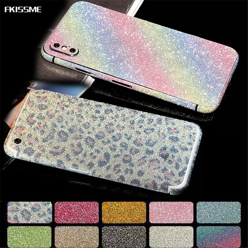 Detail Feedback Questions about FKISSME Bling Shiny 360 Full Body Cover  Glitter Case Phone Sticker for iPhone 6S 6 Plus X 5 5S SE 7 8 Plus Matte  Protector ... 63a8992144a8