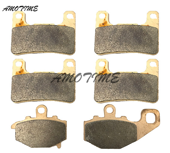 Motorcycle Parts Copper Based Sintered Motor Front & Rear Brake Pads For Kawasaki Z1000 Z1000SX 2010-2016 11 12 13 14 15