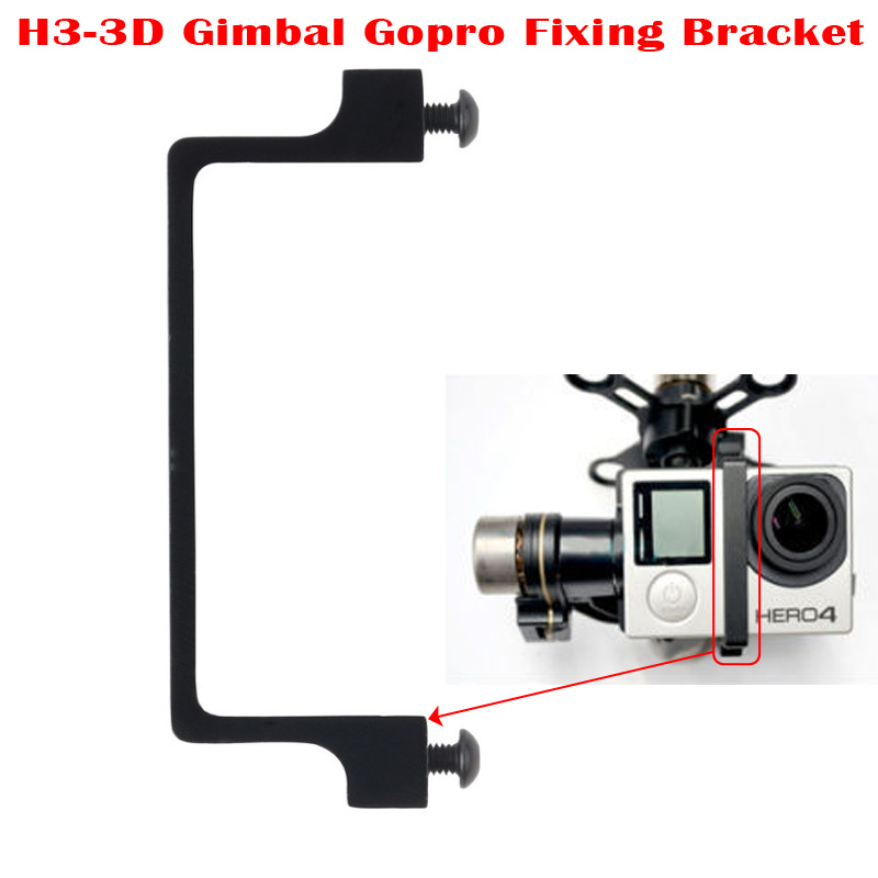 HOT Aluminium Gopro Hero3 Hero4 Fixing Securing Bracket Replacement Spare Parts for DJI Zenmuse H3-3D Standard Version Gimbal