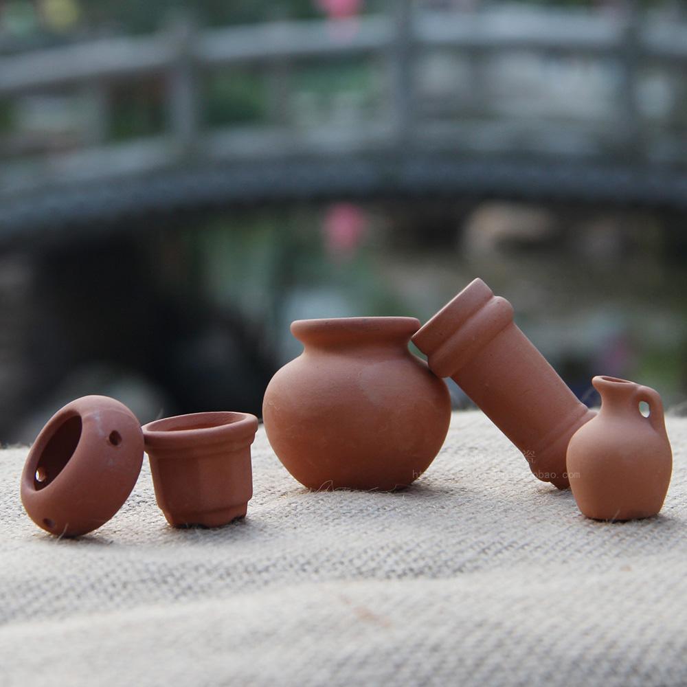 JIAYAN Kućica za lutke minijaturna terakota-lonac Seoski vrt - Kućni dekor