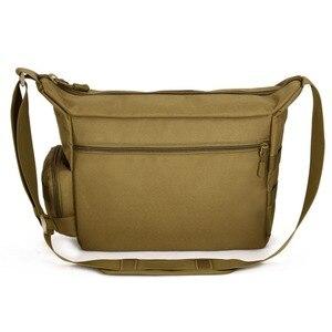 Image 2 - Mannen 1000D Nylon Messenger Schoudertas Militaire Student Tas Trekking Aktetas Laptop Pack