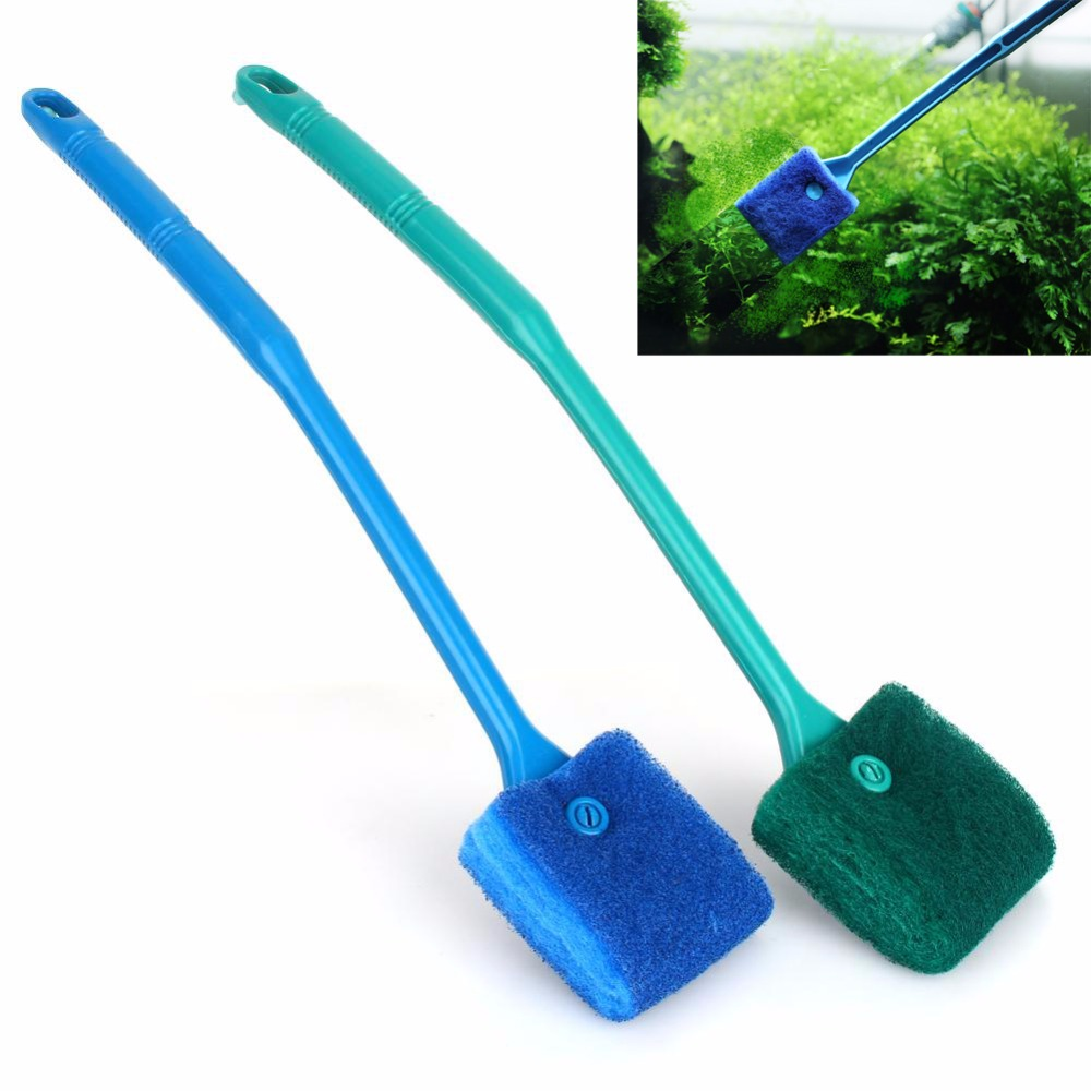 Cleaning & Maintenance Aquarium Fish Tank Algae Cleaner Glass Scraper Brush Plant Easy Cleaning Brusher To Suit The PeopleS Convenience Pet Supplies