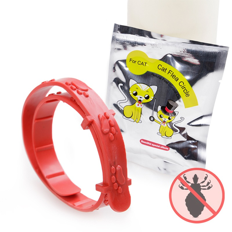 Red Adjustable Dog Cat Rabbit Neck Strap Anti Flea Mite Acari Tick Remedy Cat Collar Pet Supplies Summer Anti-insect For Kitten