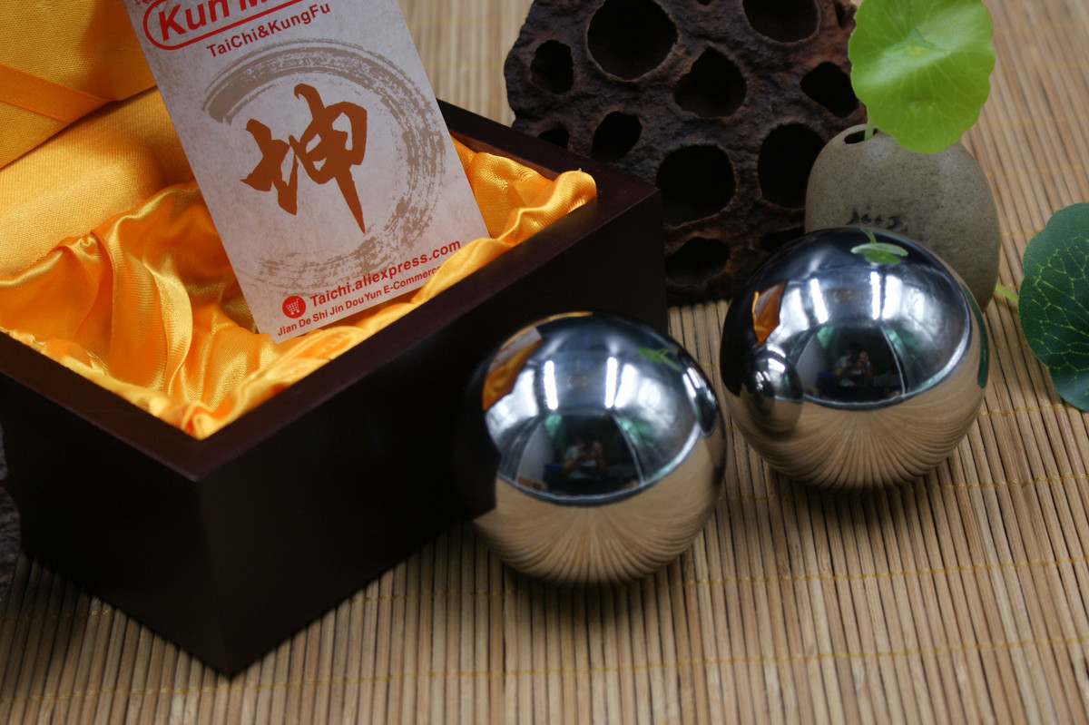 kunmaster iron tai chi kung fu ball old handball solid ball 430 stainless steel ball player