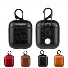3189c86e Genuine Leather Hook Case For AirPods Vintage Matte For Apple Airpods Luxury  Protective Storage Bag Black