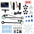 Universal 24V Car/Truck 2-Doors Electric Power Window Kits 3pcs/Set Moon Switches and Harness #J-4421