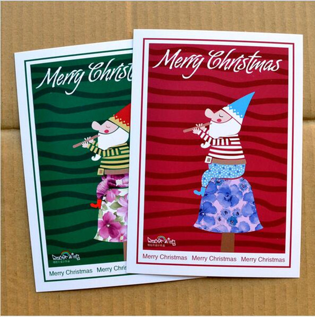 Foreign Illustration 40pcs Merry Christmas Gift Postcard Paper Blank Freeshipping Birthday Greeting Samples Brand Z
