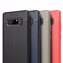 For Samsung galaxy Note 8 cases cover For Samsung Note 8 Note8 Luxury Silicone Leather black