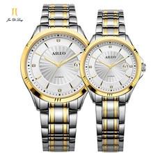 2017 Amantes de la Famosa Marca Reloj Mecánico de Las Mujeres Vestido de Los Hombres Relojes Relojes de pulsera de lujo Casuales Relojes de zafiro Resistente Al Agua