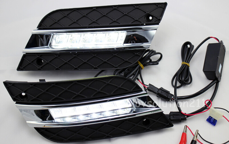 High Power LED DRL Daytime Running Light Lamp For Mercedes Benz ML W164 2010 2011 led daytime driving running fog light lamp for mercedes benz w164 ml350 ml280 ml300 ml320 ml500 2009 2011 drl