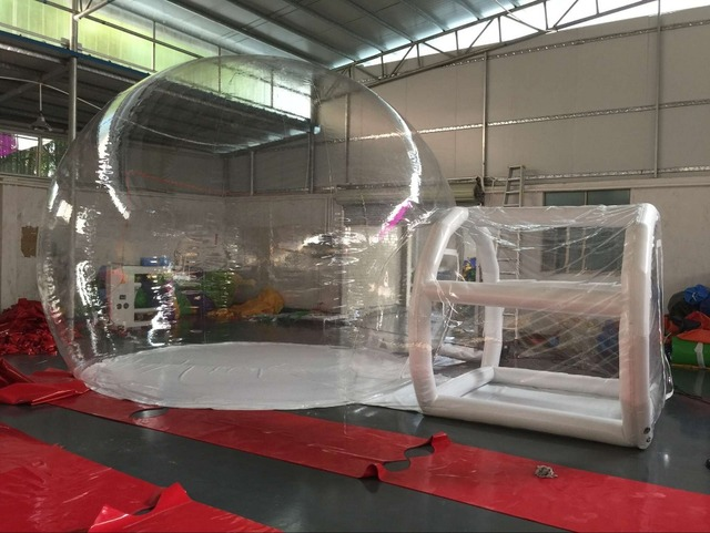 Giant Outdoor Single Tunnel Inflatable Bubble Tent Family C&ing Backyard Transparent & Giant Outdoor Single Tunnel Inflatable Bubble Tent Family Camping ...