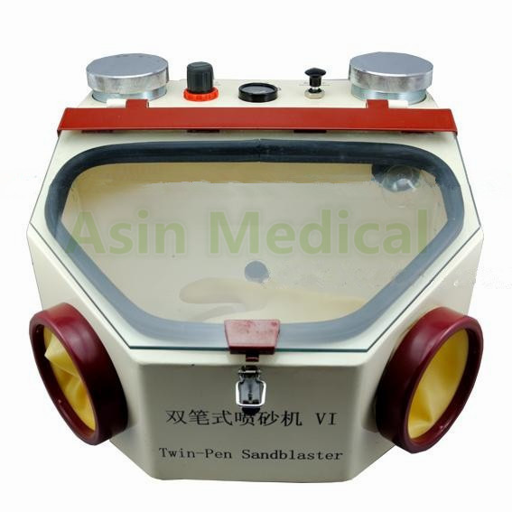 Фото High Quality NEW  220V Sandblaster Machine For Jewelry Dental Lab Sandblaster Sand Blaster