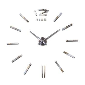 sale wall clock watch clocks 3d diy acrylic mirror stickers Living Room Quartz Needle Europe horloge free shipping 12