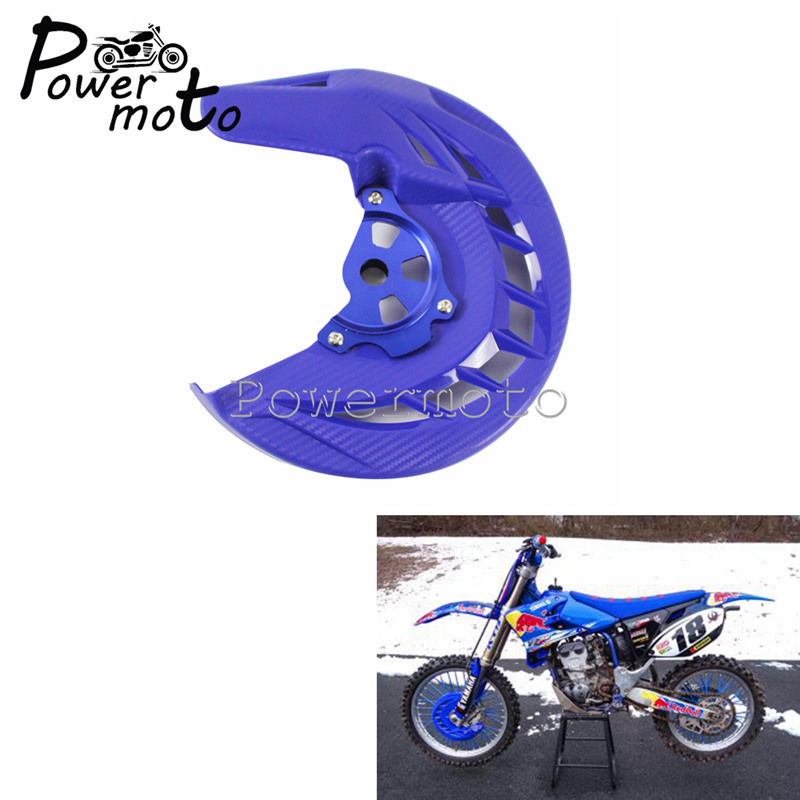 X-Brake Motorcycle Front Disc Brake Cover Guard <font><b>Protector</b></font> Dirt Bike Enduro Supermoto For <font><b>Yamaha</b></font> YZ <font><b>WR</b></font> 125 <font><b>250</b></font> 450 426 2002-2018 image
