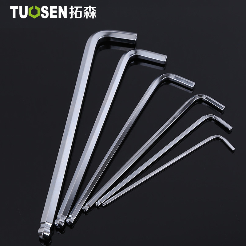TUOSEN ALLEN BALL POINT END LONG ARM HEX KEY WRENCH METRIC ALLEN KEY  1.5~24mm