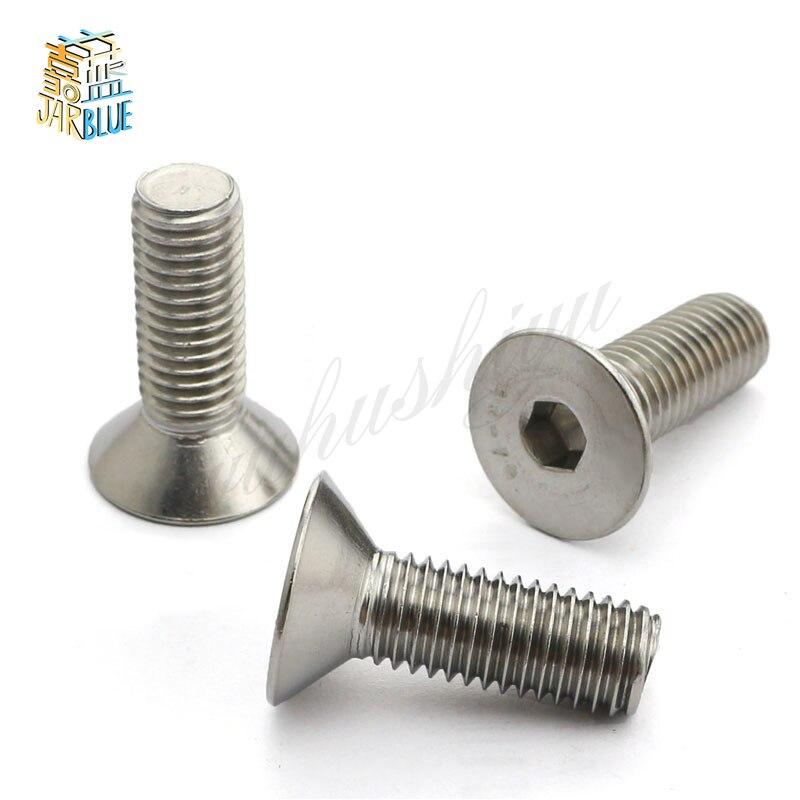 50Pcs DIN7991 GB70.3 ISO10642 JISB1194 M2 M2.5 M3 M4 304 Stainless Steel Hexagonal Countersunk Screws Flat Head Screw HW017 niko 50pcs chrome single coil pickup screws