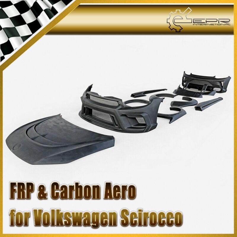 Автомобиль Стайлинг для VW Scirocco R FRP волокно стекло как стиль полный комплект расширителей колесных арок волокно стекло Авто спортивный капо