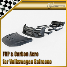 Car styling For VW Scirocco R FRP Fiber Glass Full Wide Body Kit Fiberglass Auto Racing
