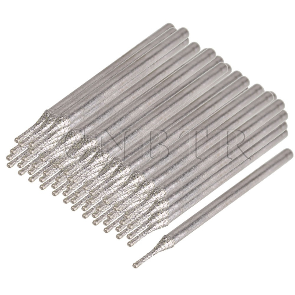 0.9mm Diamond Coated Hole Saw Tool Lapidary Drill Needle Solid Bit Set of 200 new 50mm concrete cement wall hole saw set with drill bit 200mm rod wrench for power tool