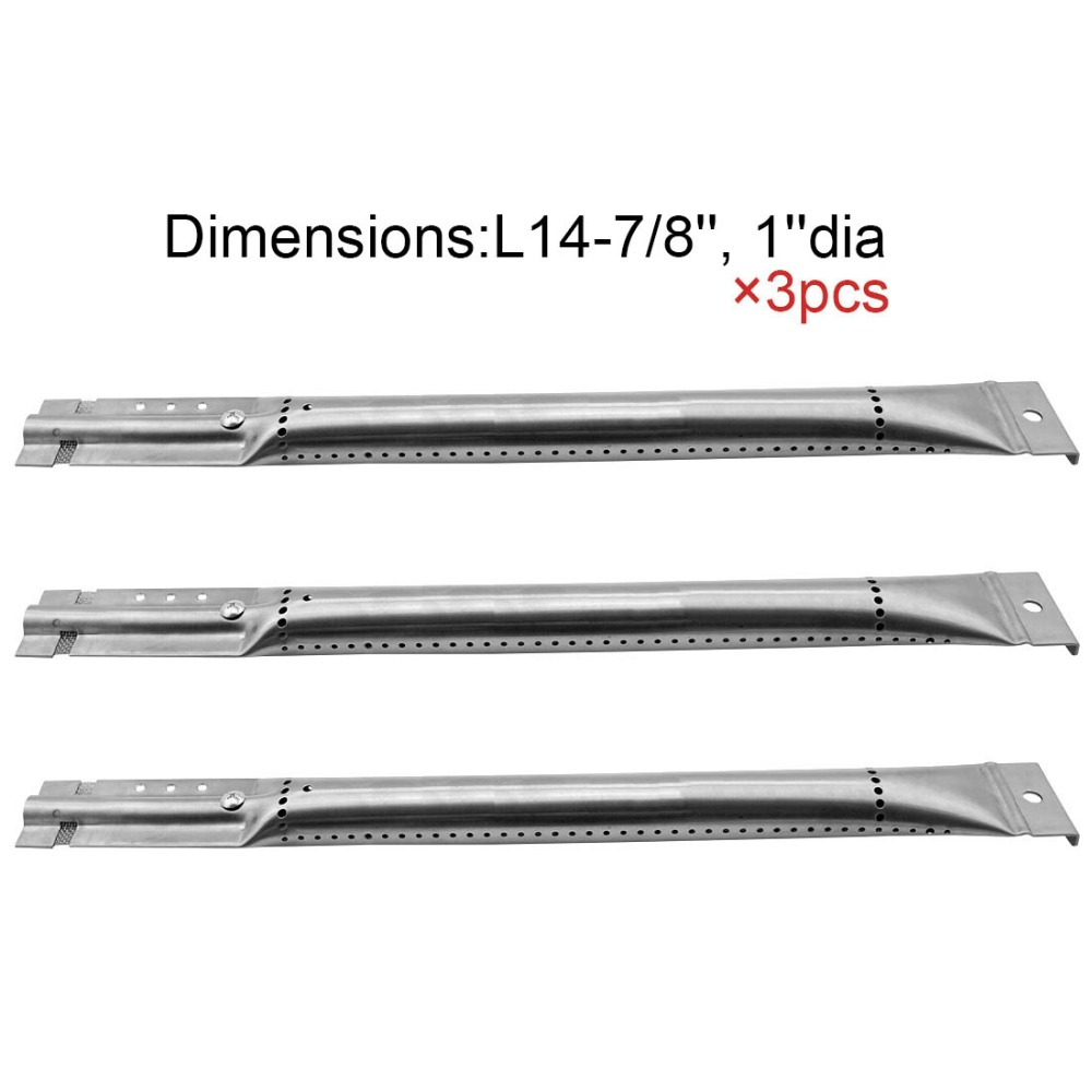 16791 BBQ Parts Gas Grill Replacement 14.9 Inch Stainless Steel Burner For Kenmore Sears 122.165389, 122.165399, 122.16641 3pack