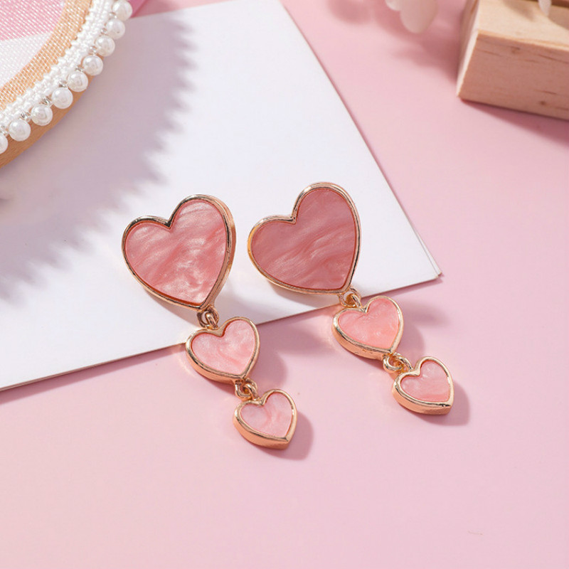 Heart Women Dangle Earrings
