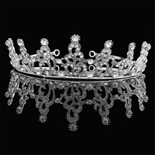 2017 Korean High-end Luxury Cystal Tiara Zircon Bride Wedding Dress Hair Crown Simple Atmosphere Hair accessories Hair Jewelry