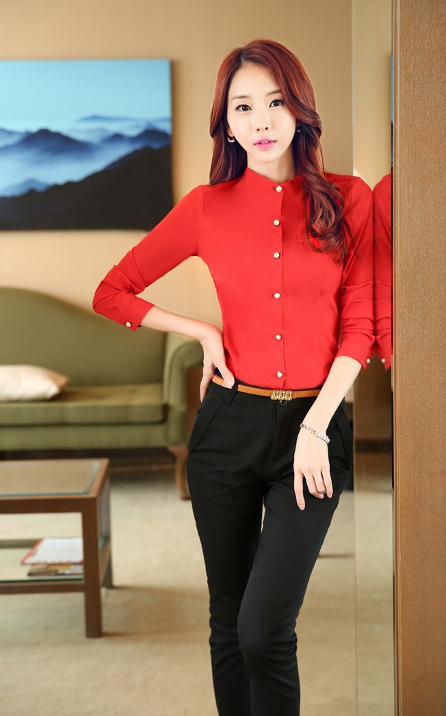 2015 Spring Autumn Female Formal Suits Blouse With Pants For Ladies Uniforms Professional Office Work Pantsuits Trousers Sets