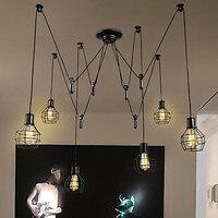LED Ретро Винтаж Открытый Подвесные Светильники дома столовая Стиль Лофт лампа Промышленное освещение Pully светильник