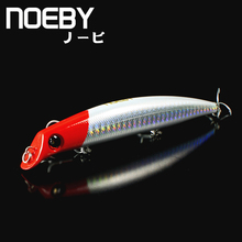 NOEBY 1 Pcs Fishing Lure 120mm/16g 0-0.9m Floating MINNOW Hard Bionic Bait VMC Treble Hooks long shot Spinning Fish NBL 9029