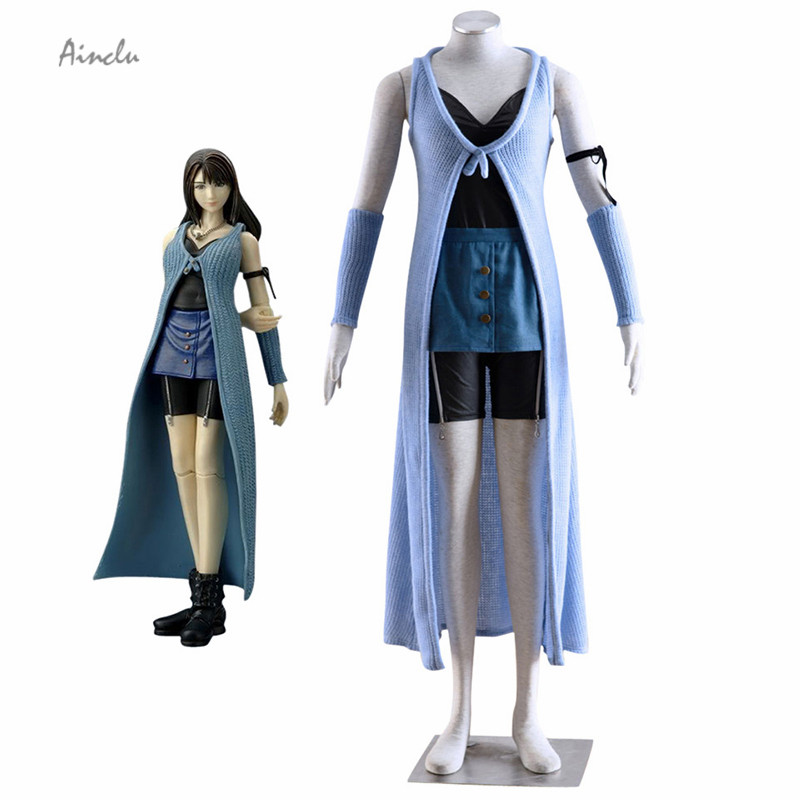 Ainclu Free Shipping New Final Fantasy Rinoa Heartilly Daily Cosplay Brand Costumes