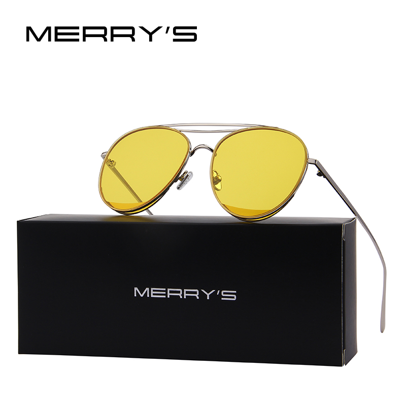 MERRY'S 2017 New Arrival Retro Women Classic Brand Designer Rimless Sunglasses Twin Beam Metal Frame Sun Glasses S'8095