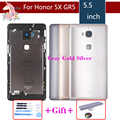 ต้นฉบับสำหรับ Huawei Honor 5X X5 GR5 แบตเตอรี่กลับด้านหลังประตูกรณีแบตเตอรี่แผงเปลี่ยนโลโก้