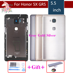 Original For Huawei Honor 5X X5 GR5 Battery Cover Back Housing Rear Door Case full Battery Cover Panel Replacement With logo