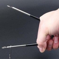 Odkryte palce i pięta rozrzutnik urządzenie odsprzęgające stal nierdzewna czarny żaba Fishs Grip Lip Picker narzędzie do otwierania haczyka