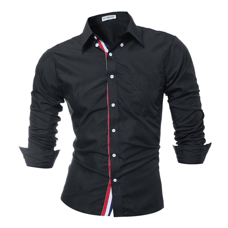Marke 2018 Mode Männlichen Shirt mit Langen Ärmeln Tops Einfarbig Hochwertigen Mens Dress Shirts Dünnen Männer Shirt XXXL 9007