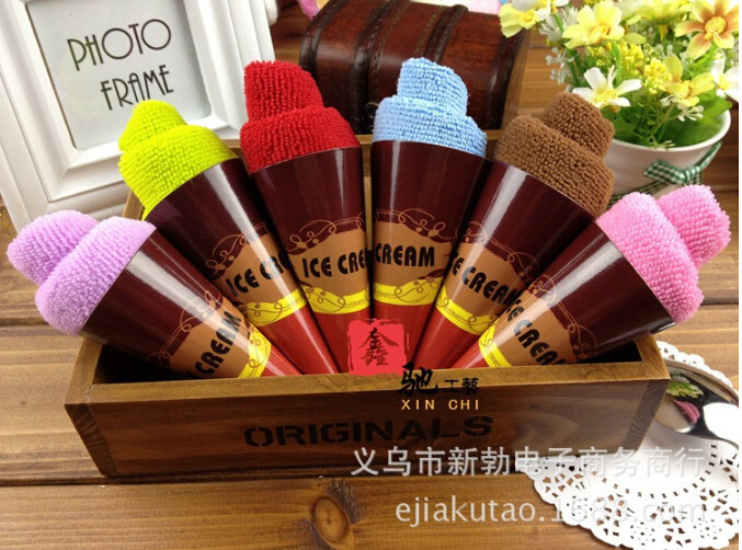 Wedding Gift Towels: Free Shipping Icecream Towel Multiple Colors Cake Towel