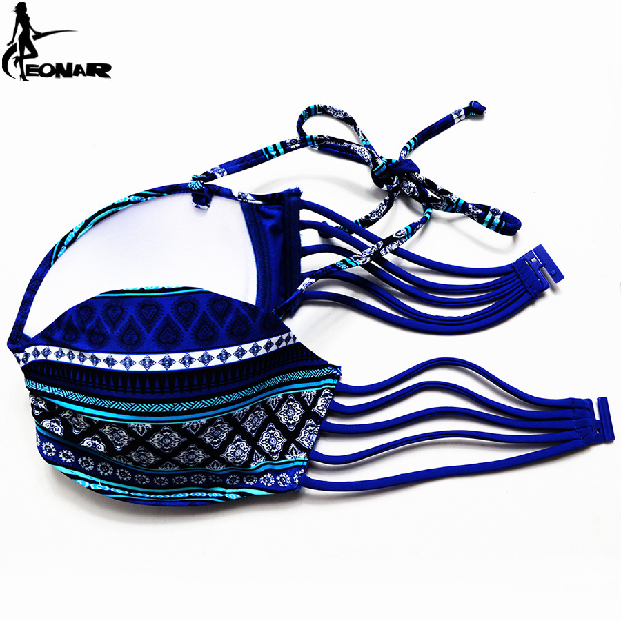 Swimsuit 19 Brazilian Bikini Set Sexy Floral Bandage Strappy Plus Size Swimwear Bikinis Women Bandeau Biquini Bathing Suits 8