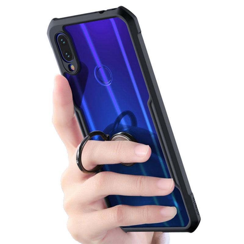 HTB1rn5cXUD1gK0jSZFGq6zd3FXaq For Xiaomi Redmi Note 7 7 cc9 Pro Transparent Acrylic+TPU XUNDD Phone case for xiaomi K20 Pro Mi 9T Pro Ring Protective cover