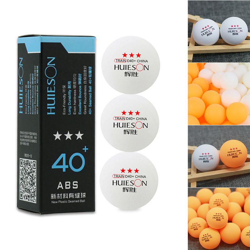 2018 Newly 3pcs Pingpong Balls Table Tennis Professional Accessories ABS For Training Sports